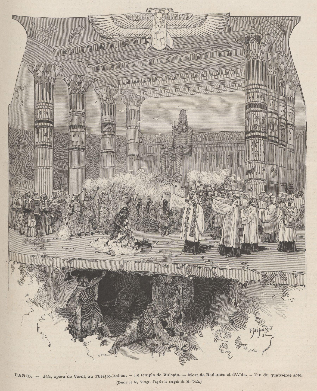 File:paris, Aïda, Opéra De Verdi, Au Théâtre-Italien, Le intérieur Dessin Theatre