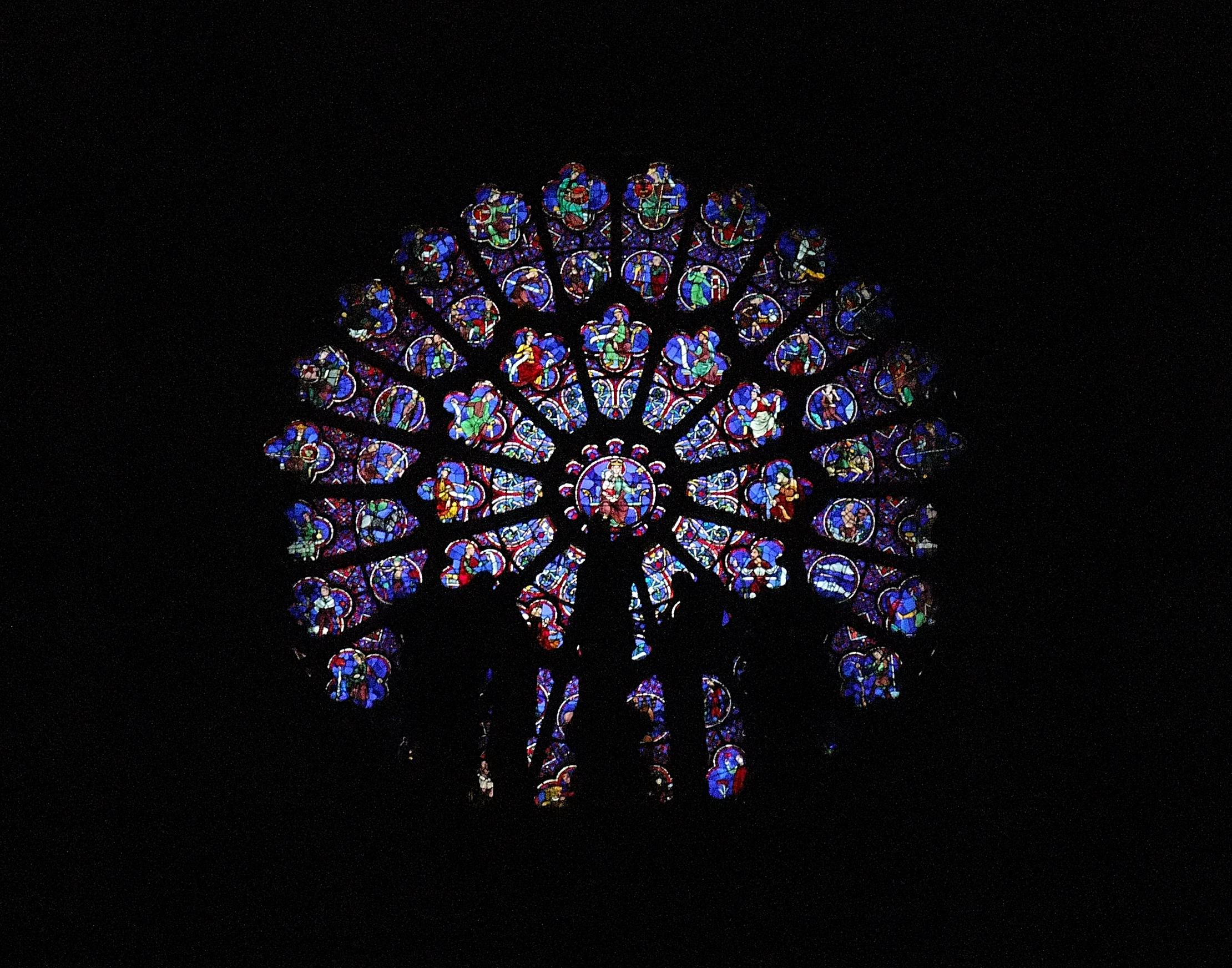 File:paris - Notre Dame De Paris, Rosace Ouest tout Image De Rosace