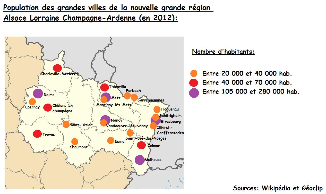 File:population Des Plus Grandes Villes De La Grande Région serapportantà Nombre De Region