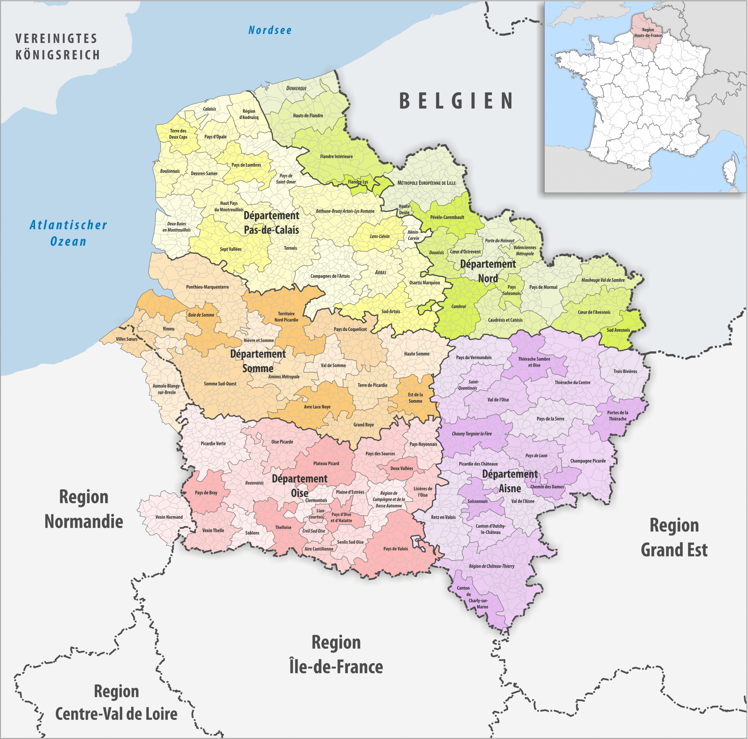 File:region Hauts-De-France Gemeindeverbände 2018 tout Region De France 2018