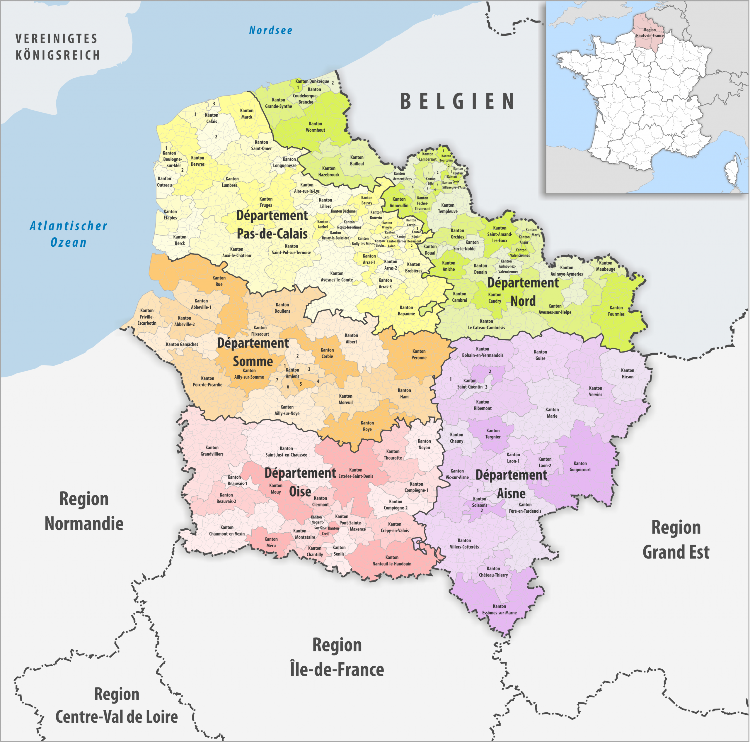 File:region Hauts-De-France Kantone 2017 - Wikimedia Commons destiné Region De France 2017