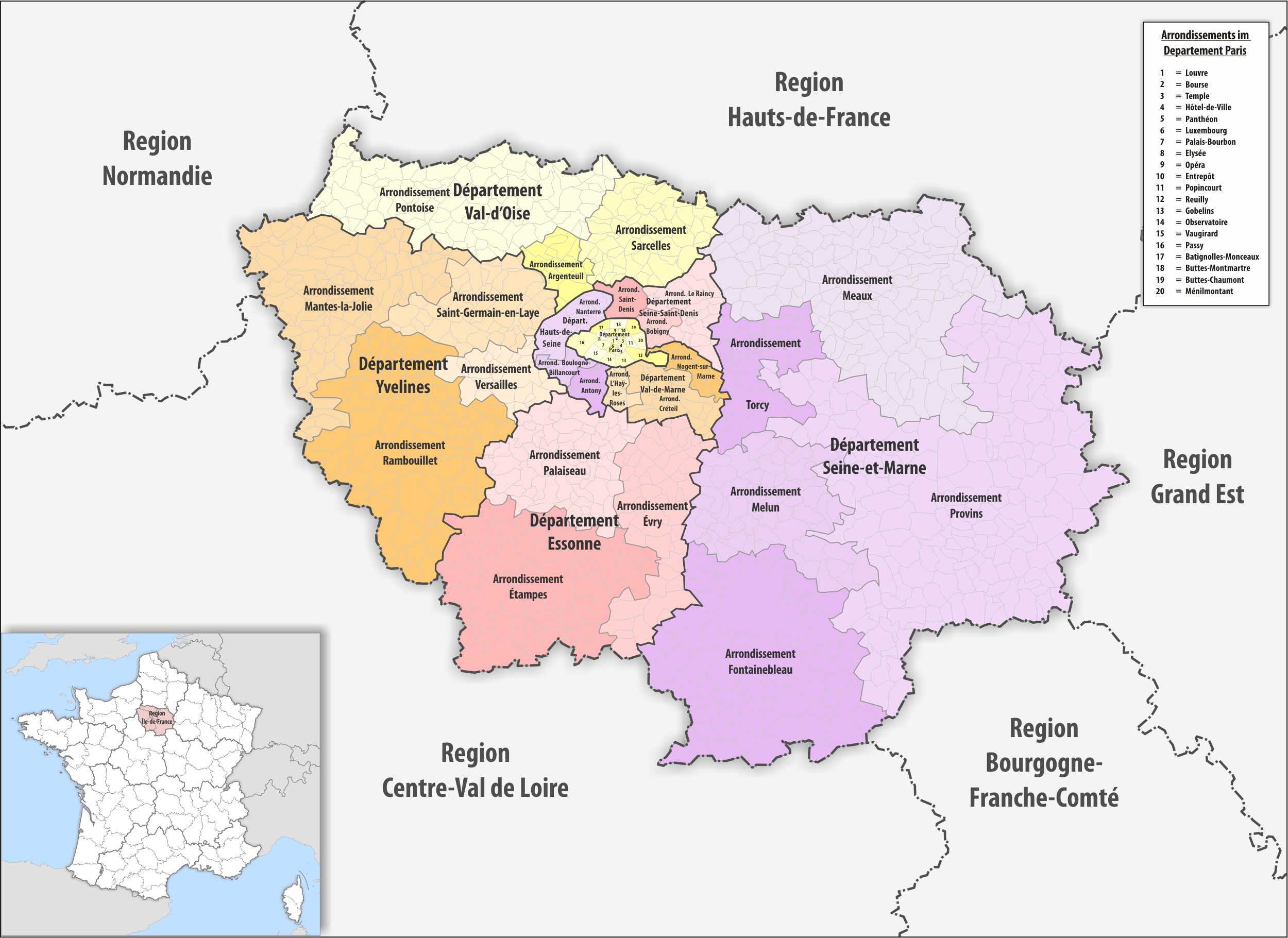 File:region Île-De-France Arrondissement 2017 dedans Region De France 2017