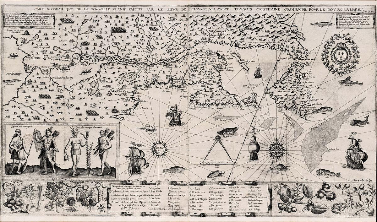 File:samuel De Champlain Carte Geographique De La Nouvelle concernant Carte Geographique Du France