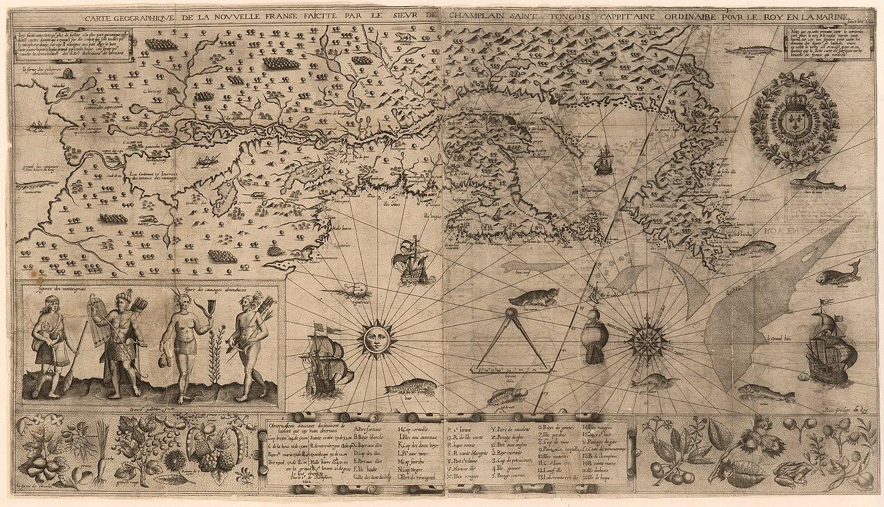 File:samuel De Champlain Carte Geographique De La Nouvelle pour Carte Geographique Du France