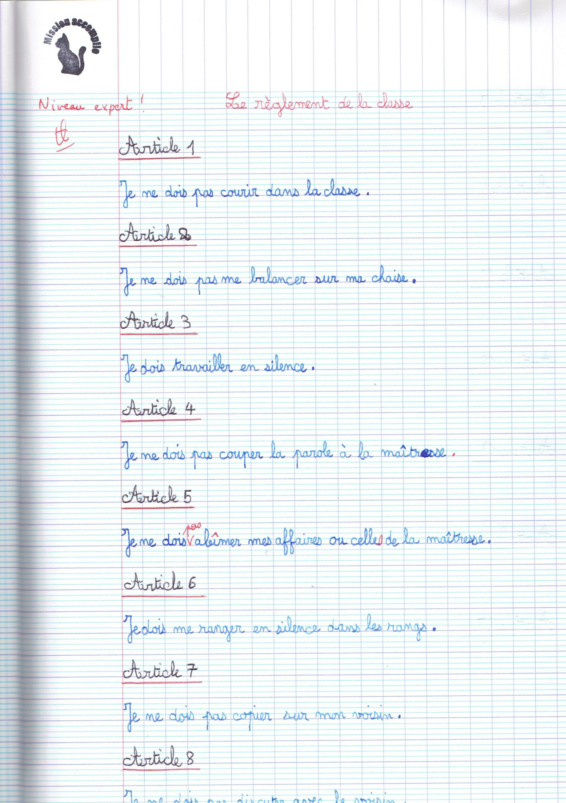 Filou Mène L'enquete Règlement De Classe concernant Mots Mélés À Imprimer Cm1
