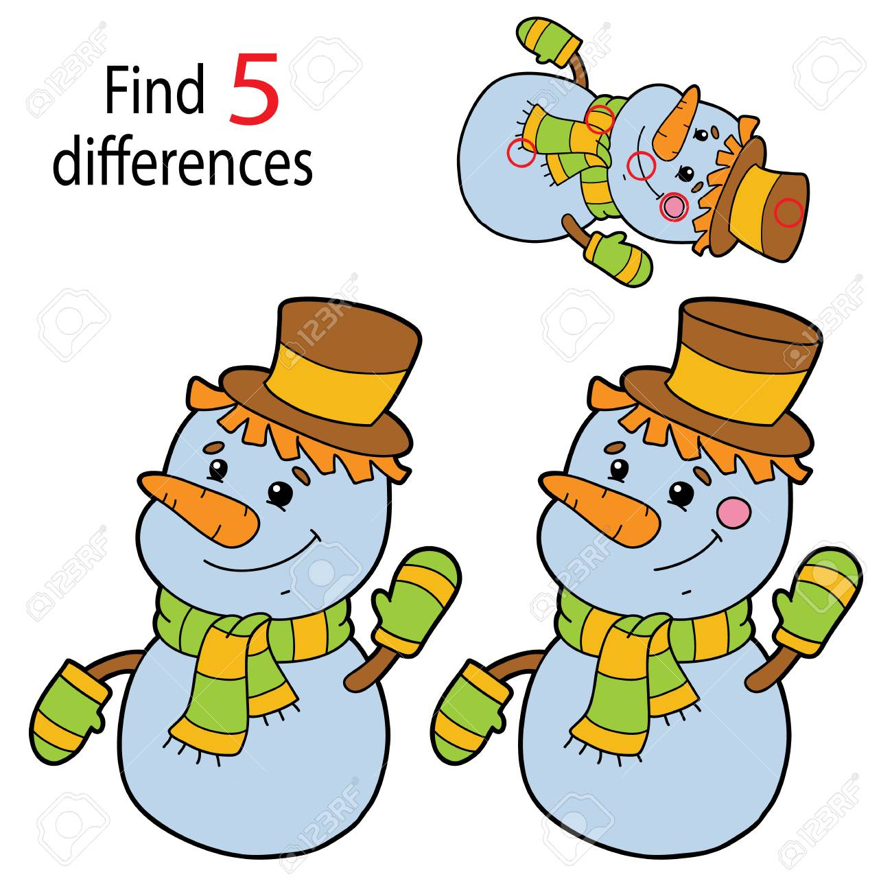 Find 5 Differences For Preschool Children pour Les 5 Differences