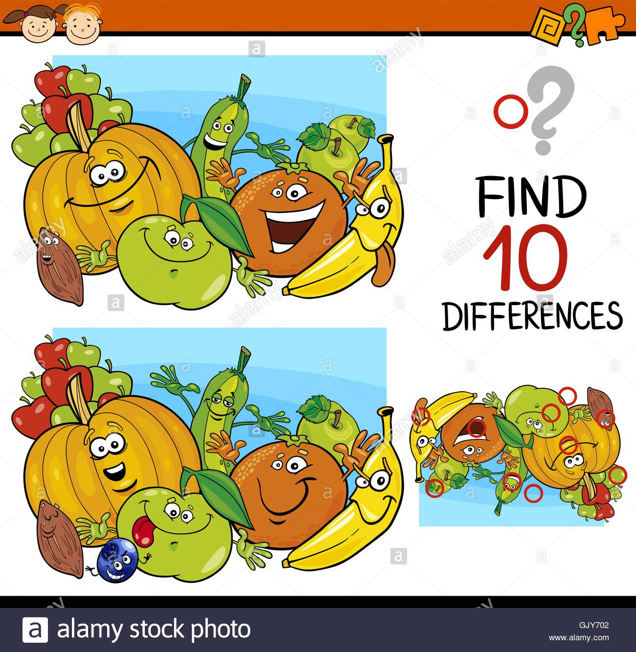 Finding Differences Game Cartoon Stock Vector Art concernant Chercher Les Differences