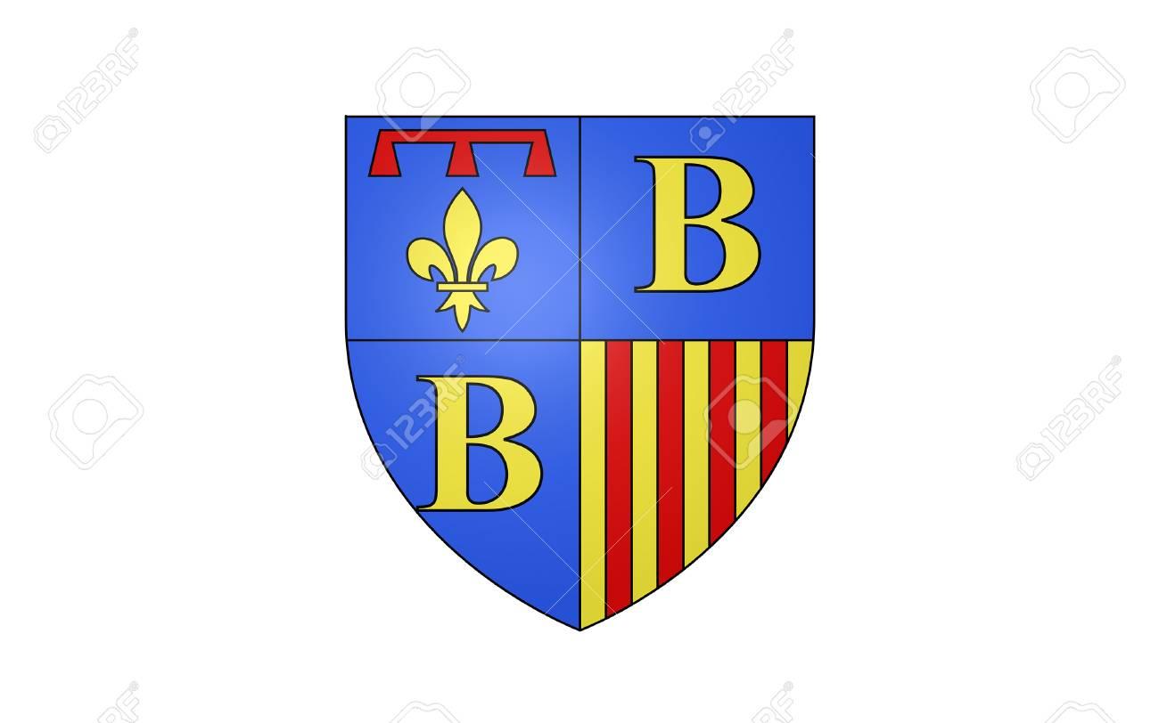Flag Of Brignoles Is A Commune In The Var Département In The  Provence-Alpes-Cote Azur Region In Southern France. It Is A Sub-Prefecture  Of The avec Région Et Département France