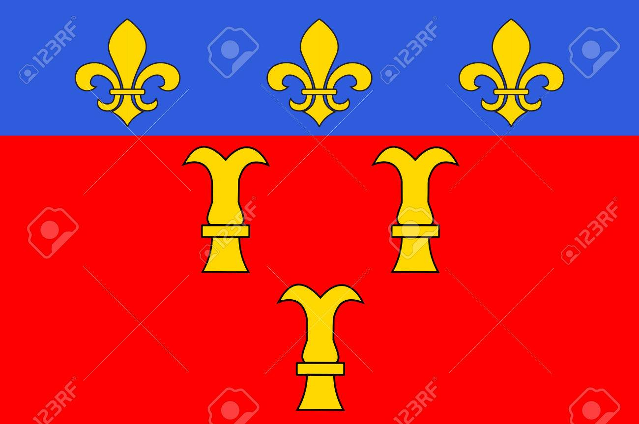 Flag Of Tulle Is A Commune And Capital Of The Corrèze Département In The  Nouvelle-Aquitaine Region In Central France. Vector Illustration avec Nouvelle Region France