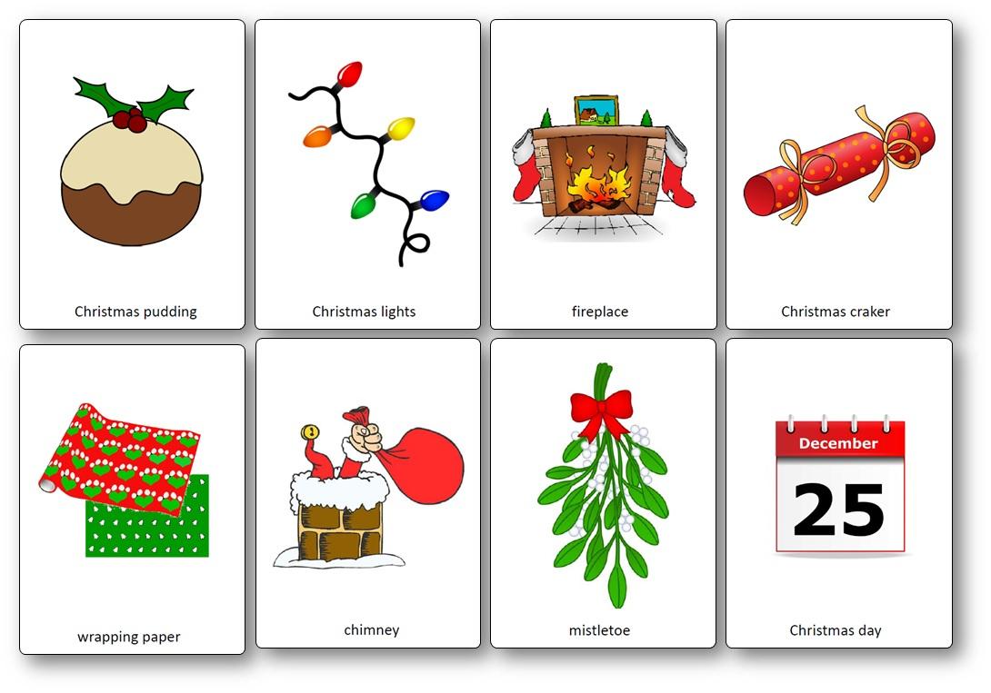 Flashcards Sur Le Thème De Noël En Anglais - Flashcards Noël dedans Imagier Noel Maternelle