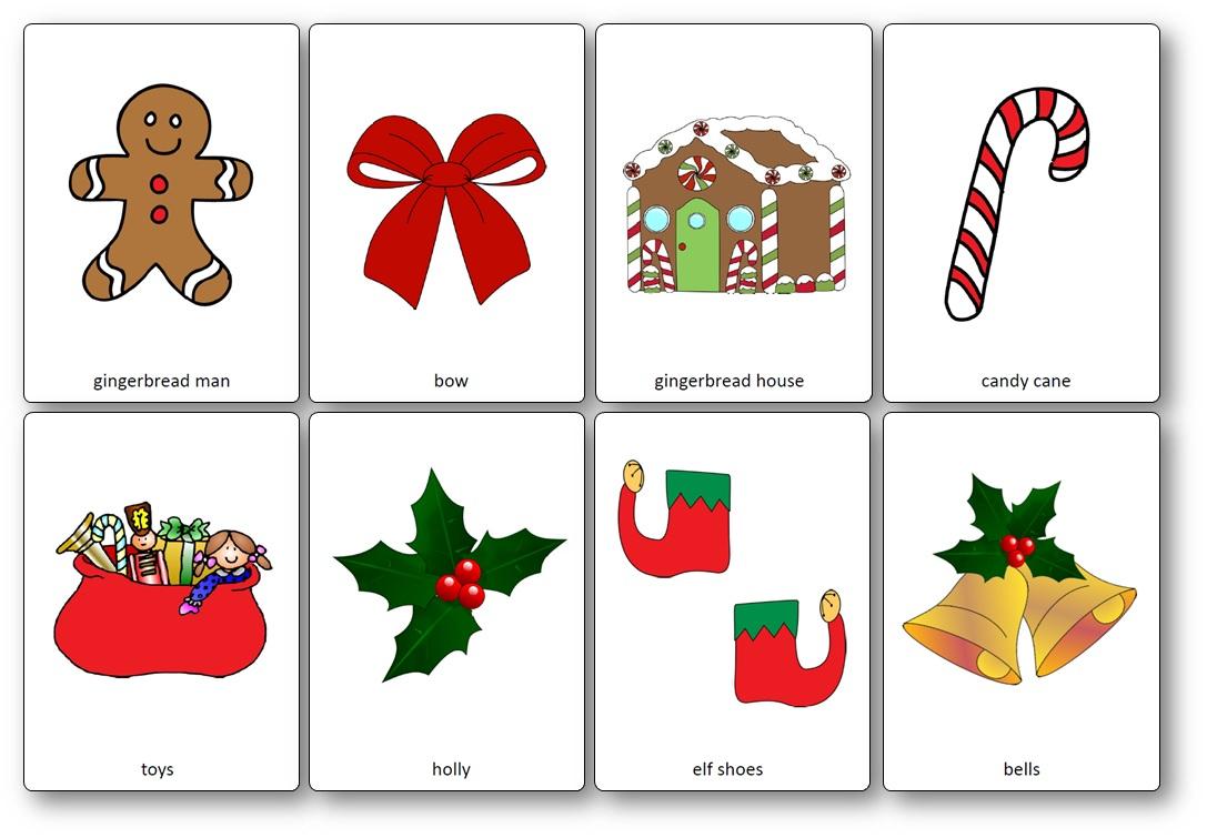 Flashcards Sur Le Thème De Noël En Anglais - Flashcards Noël tout Imagier Noel Maternelle