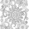 Fleur De Mandala Coloriage Vecteur Pour Les Adultes — Image tout Mandala À Colorier Adulte