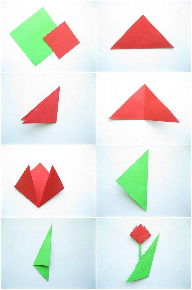 Fleur Origami Facile : 7 Idées De Pliage Fleur Original En à Pliage Papier Enfant