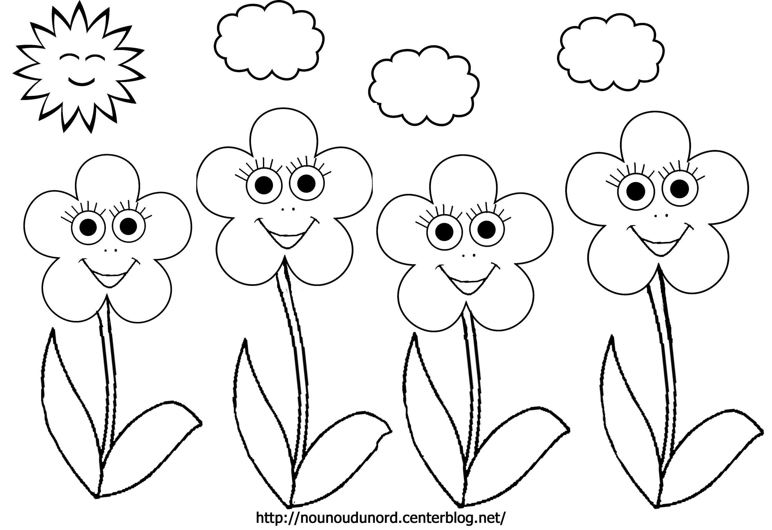 Fleurs #23 (Nature) – Coloriages À Imprimer serapportantà Dessin A Colorier De Fleur