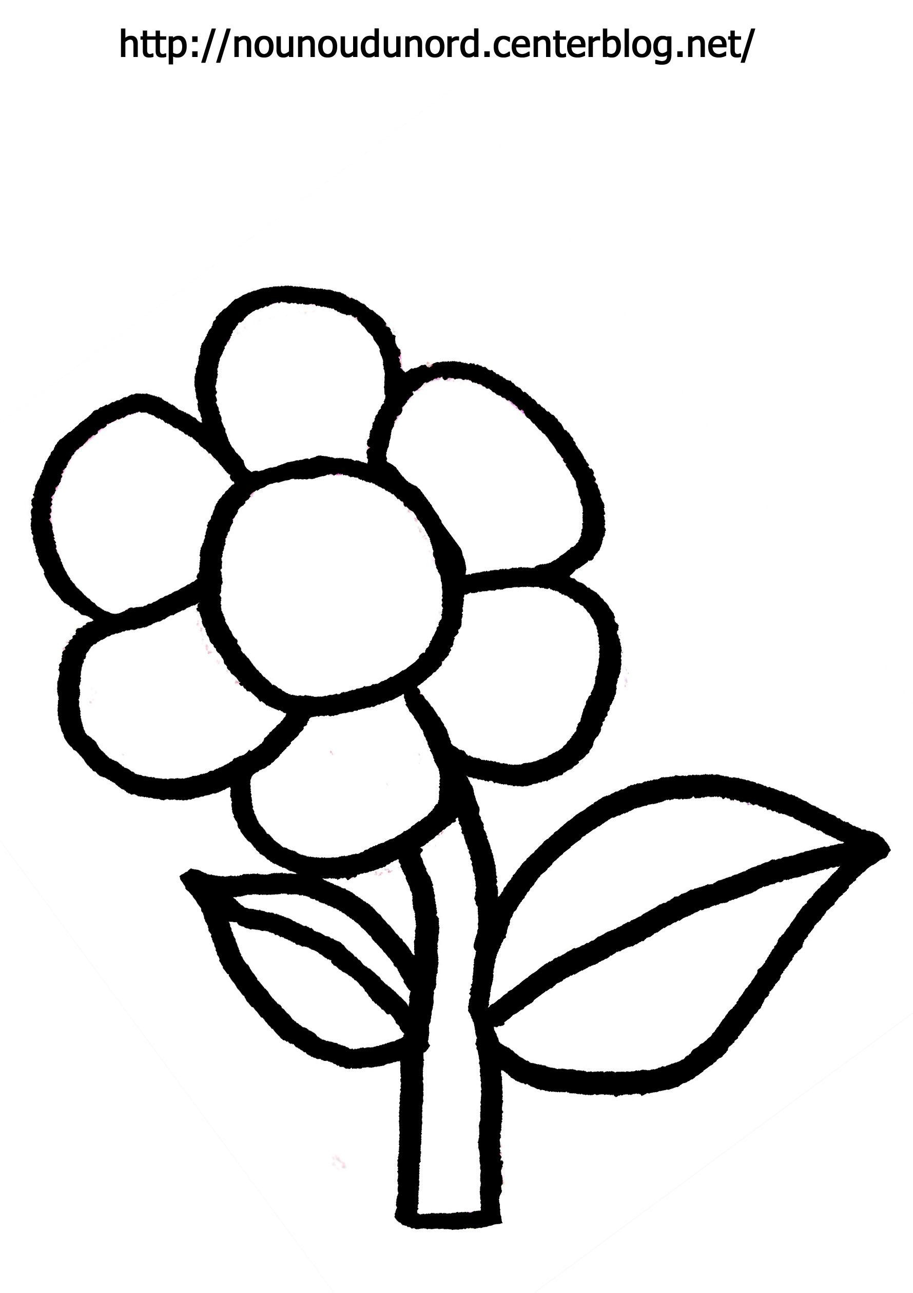 Fleurs #69 (Nature) – Coloriages À Imprimer tout Dessin A Colorier De Fleur
