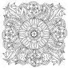 Fleurs De Forme De Mandala Profilées Pour Adulte Livre De Coloriage Dans Le  Zen Style Art-Thérapie Anti Dessin Stress. Hand-Drawn, Rétro, Griffonnage, intérieur Mandala À Colorier Adulte