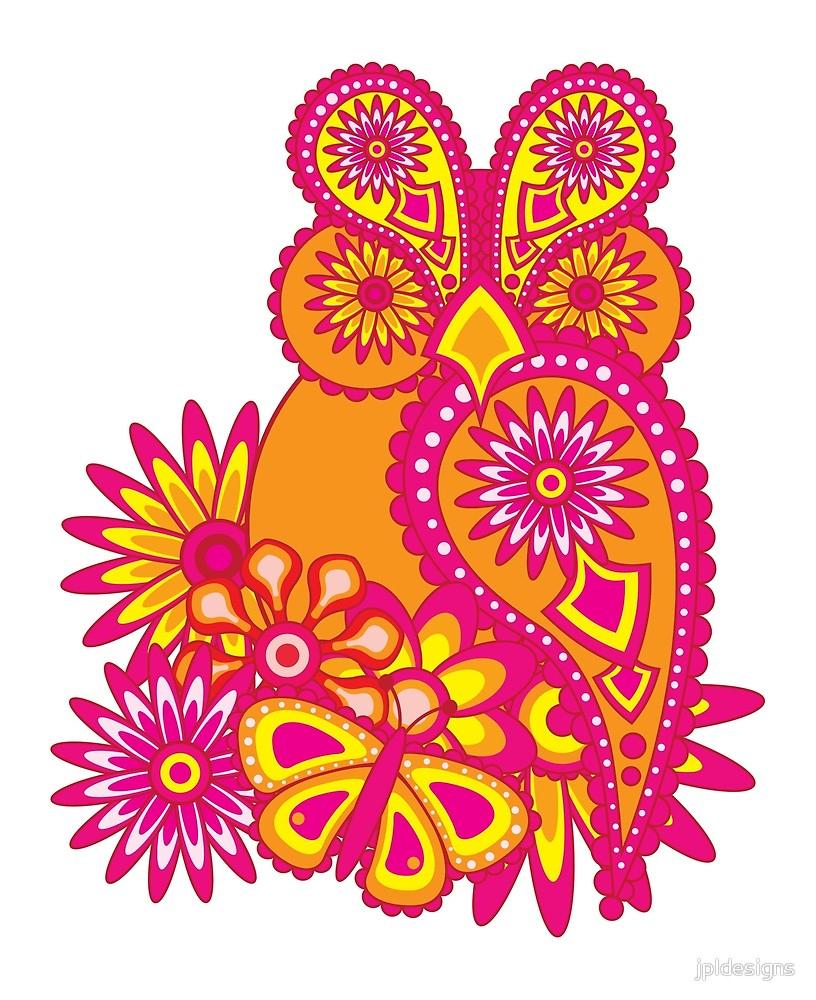 Fleurs De Hibou Abstrait Motif Floral Paisley Et Dessin De serapportantà Hibou Dessin Couleur