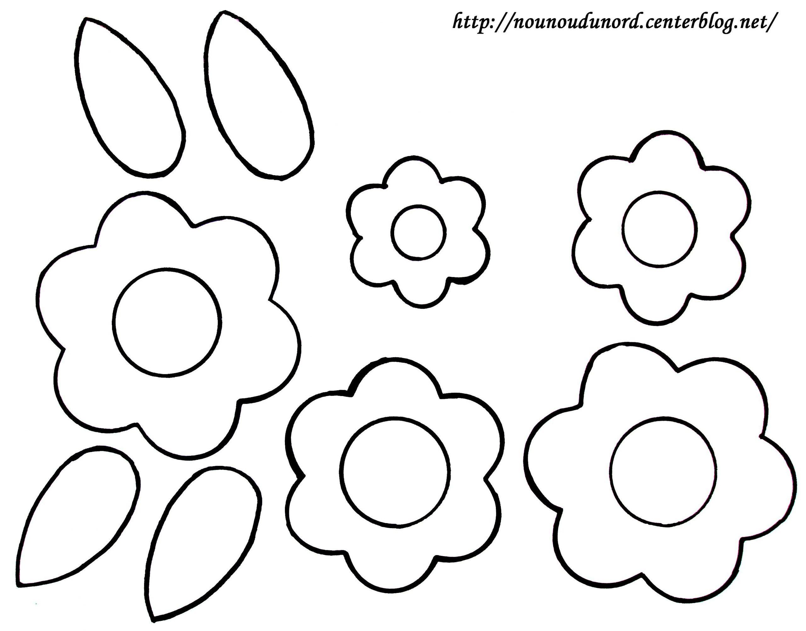 Fleurs Et Feuilles Gabarit À Colorier avec Découpage Collage Maternelle À Imprimer