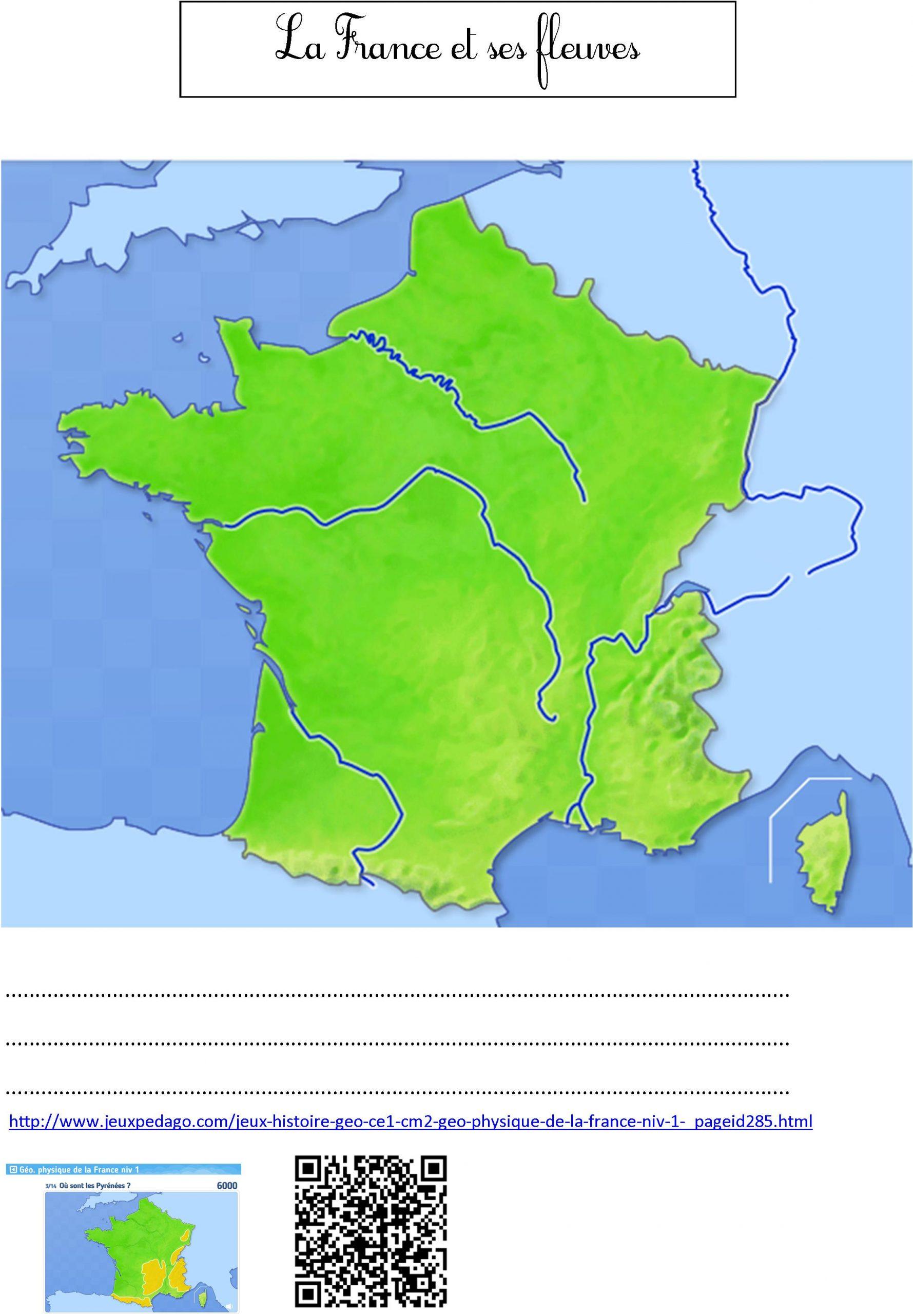 Fleuves De France | Le Blog De Monsieur Mathieu dedans Carte Des Fleuves De France