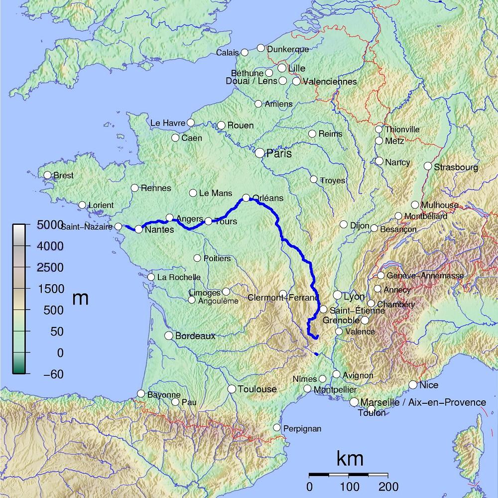 Fleuves Et Rivieres De France dedans Carte Des Fleuves En France