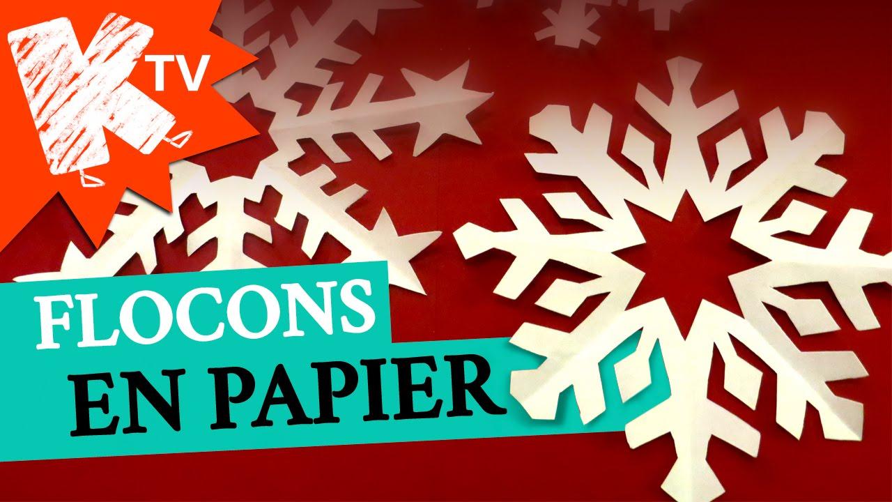 Flocons De Neige En Papier tout Decoupage Papier Facile