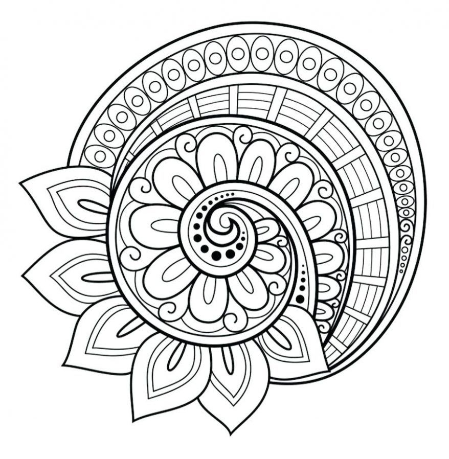 Flower Mandala Coloring Pages | Boyama Sayfaları Mandala pour Hugo L Escargot Coloriage Mandala