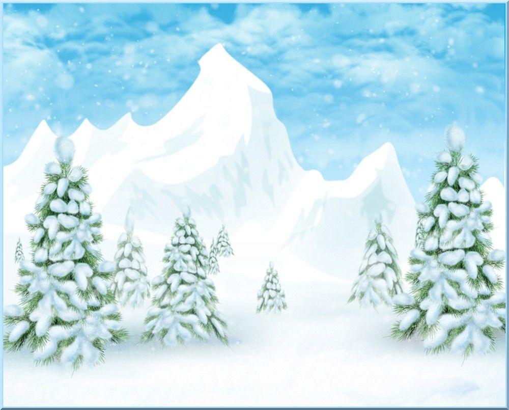Fond Créa Paysage D'hiver : Dessin ; Winter Landscape serapportantà Dessin De Paysage D Hiver