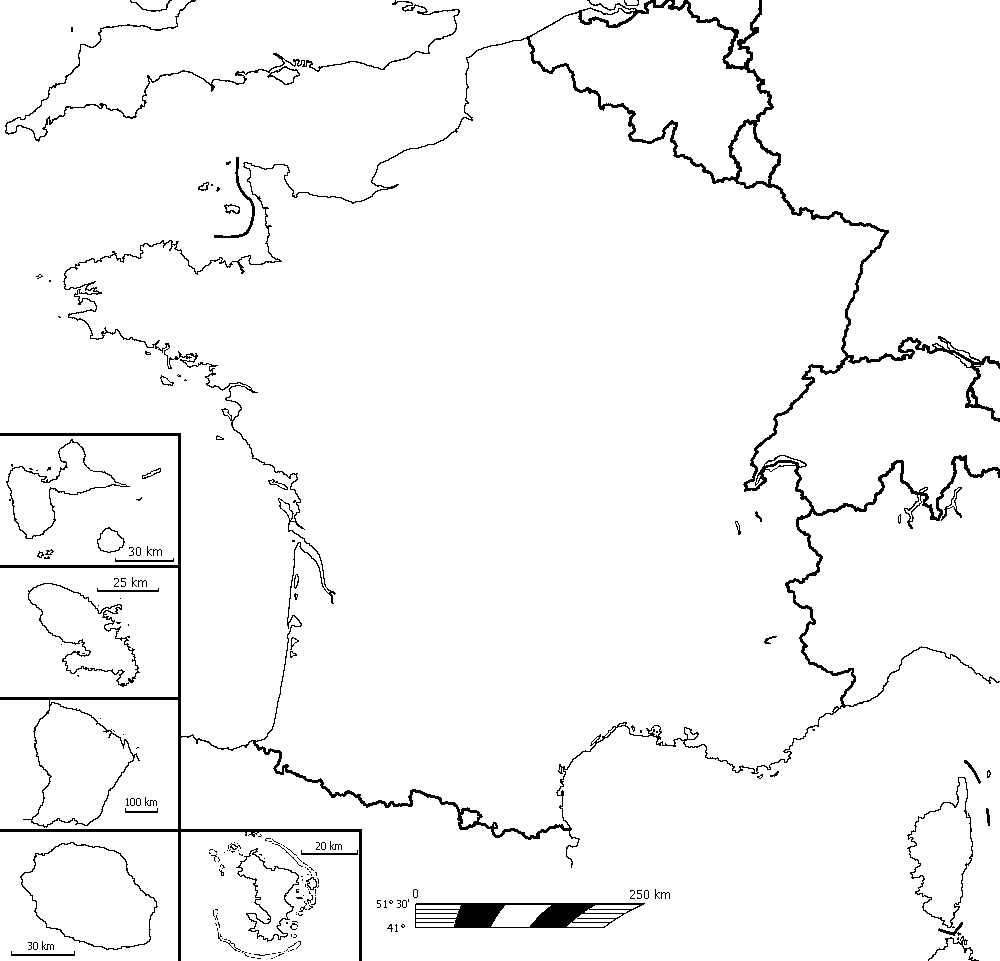 Fond De Carte De La France pour Carte Vierge De La France