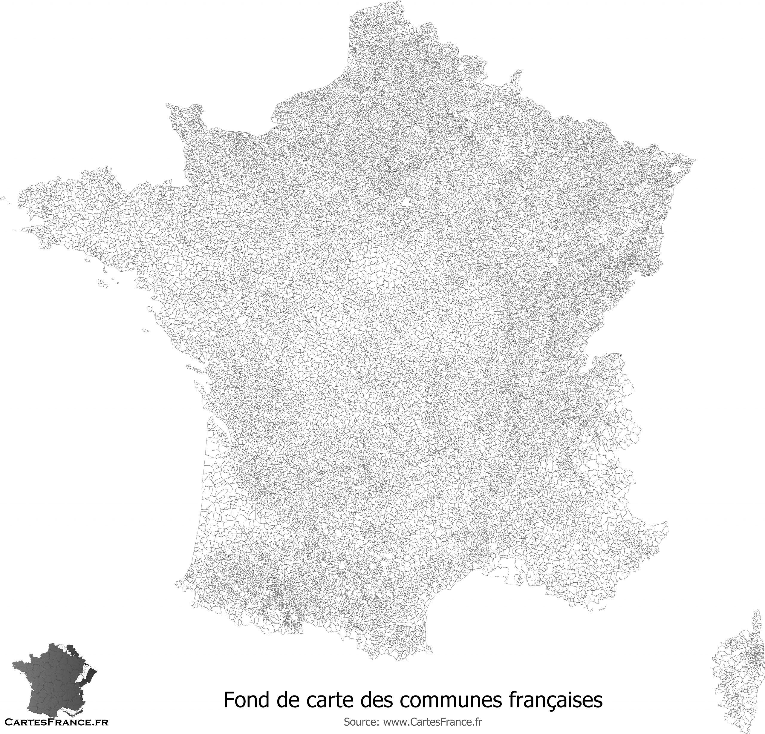 Fond De Carte Des Communes De France tout Fond De Carte France Vierge