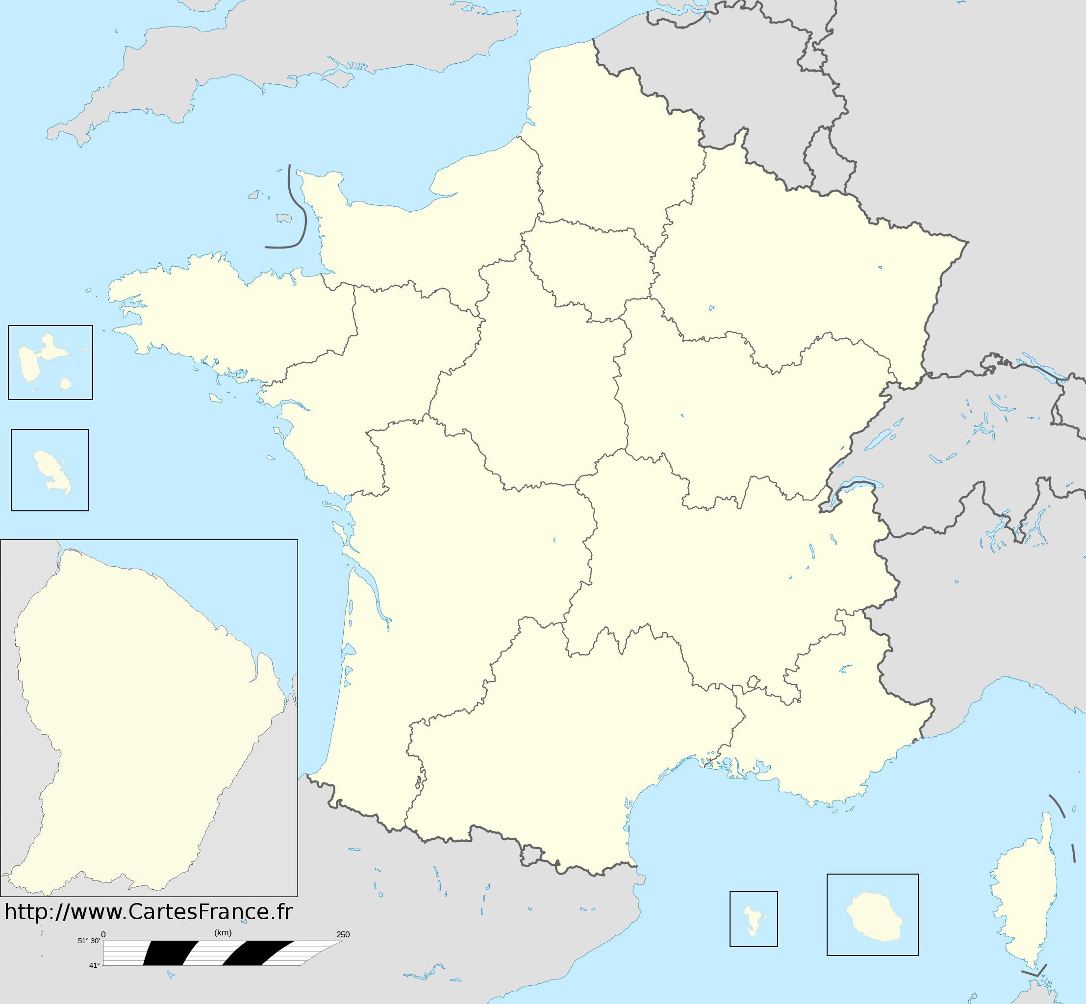 Fond De Carte Des Regions destiné Carte De France Vierge Nouvelles Régions