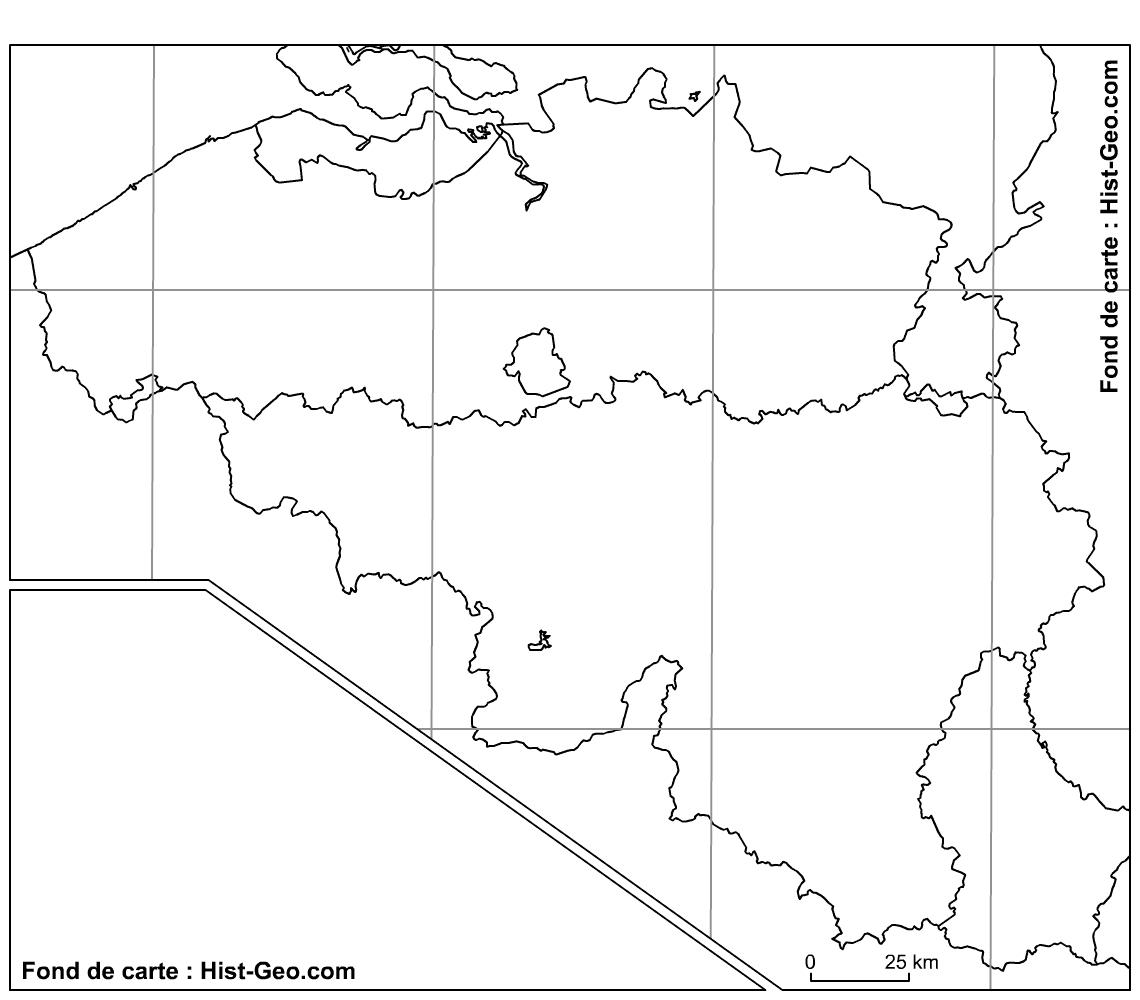 Fond De Carte Vierge Des Régions De La Belgique (Parallèles à Carte Des Régions Vierge