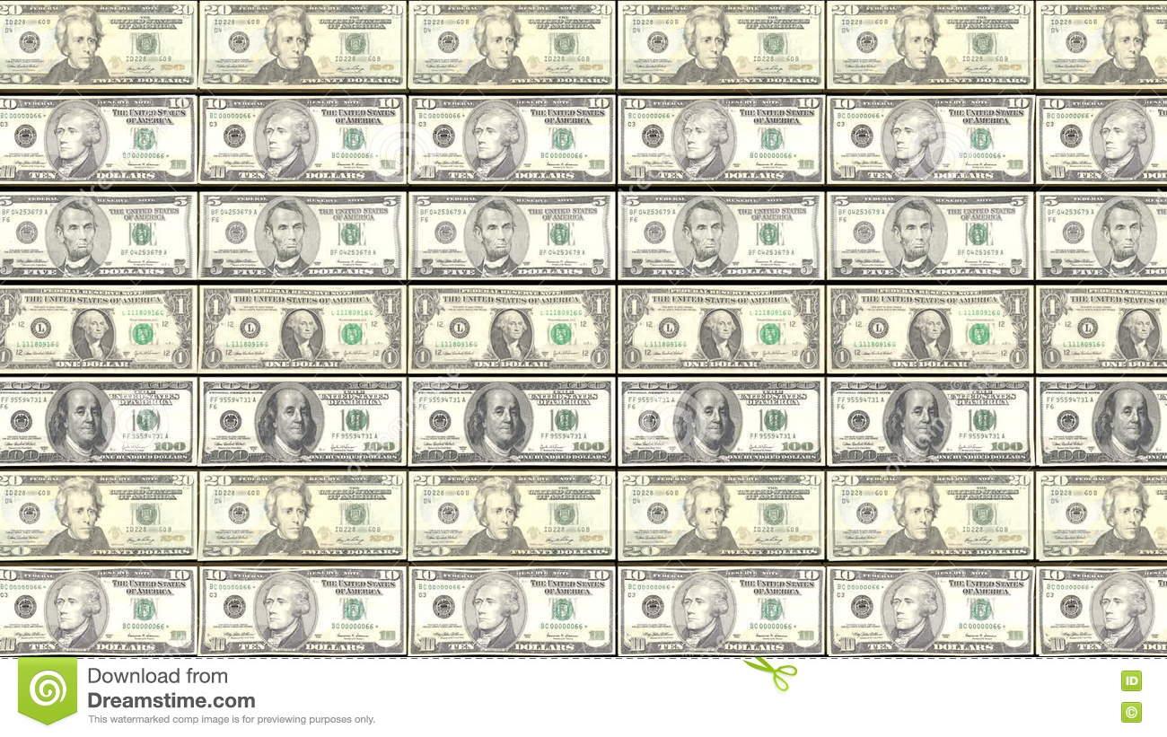 Fond De Hd Loopable Avec Imprimer L'argent De Billet D'un Dollar. concernant Billet A Imprimer
