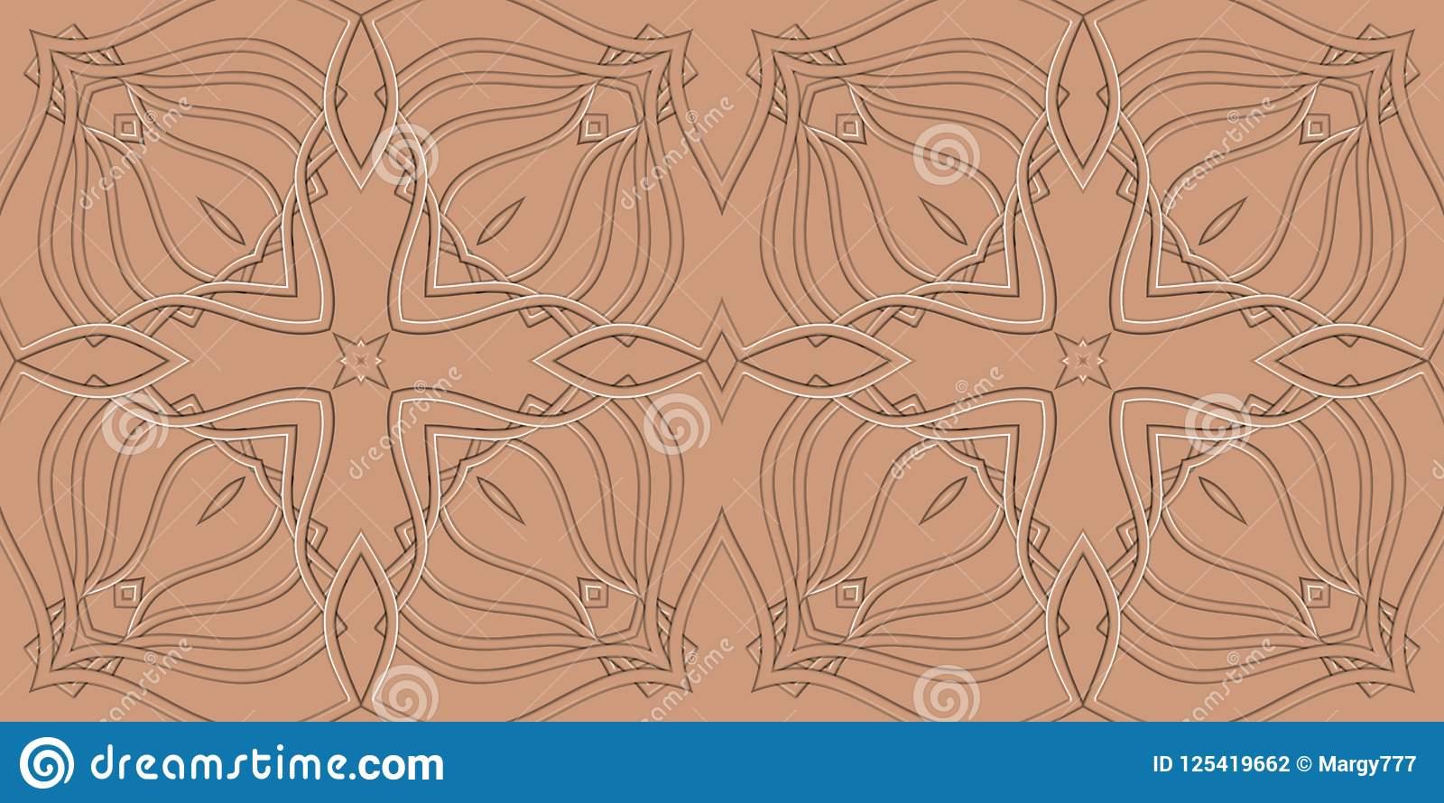 Fond Symétrique Abstrait Orange Pour Imprimer Sur L serapportantà Symétrie A Imprimer