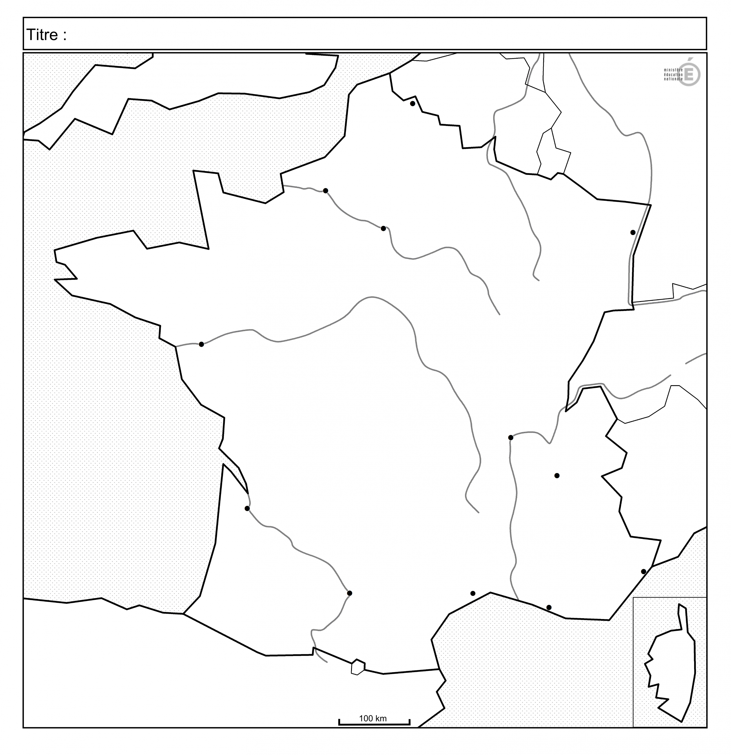 Fonds De Carte - Histoire-Géographie - Éduscol concernant Carte Des Fleuves En France