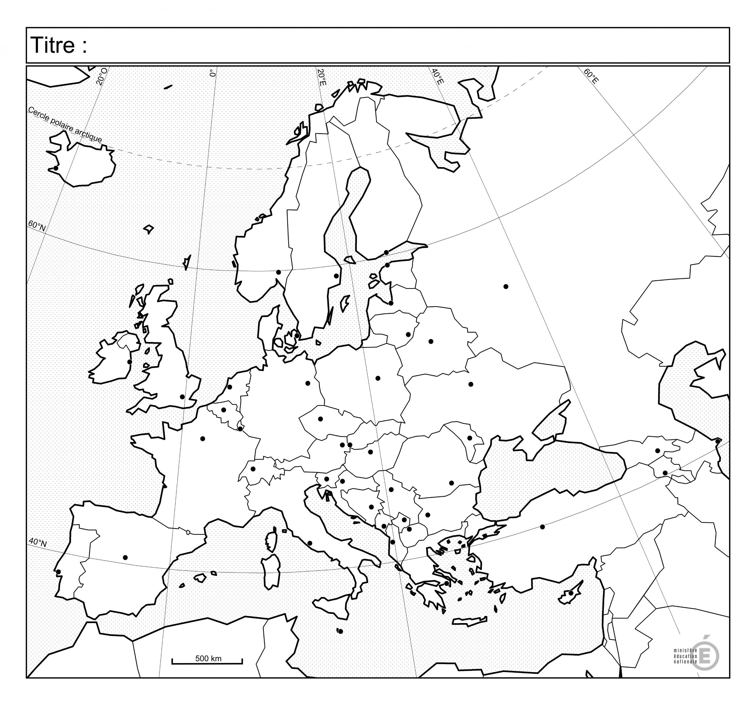 Fonds De Carte - Histoire-Géographie - Éduscol dedans Carte D Europe À Imprimer