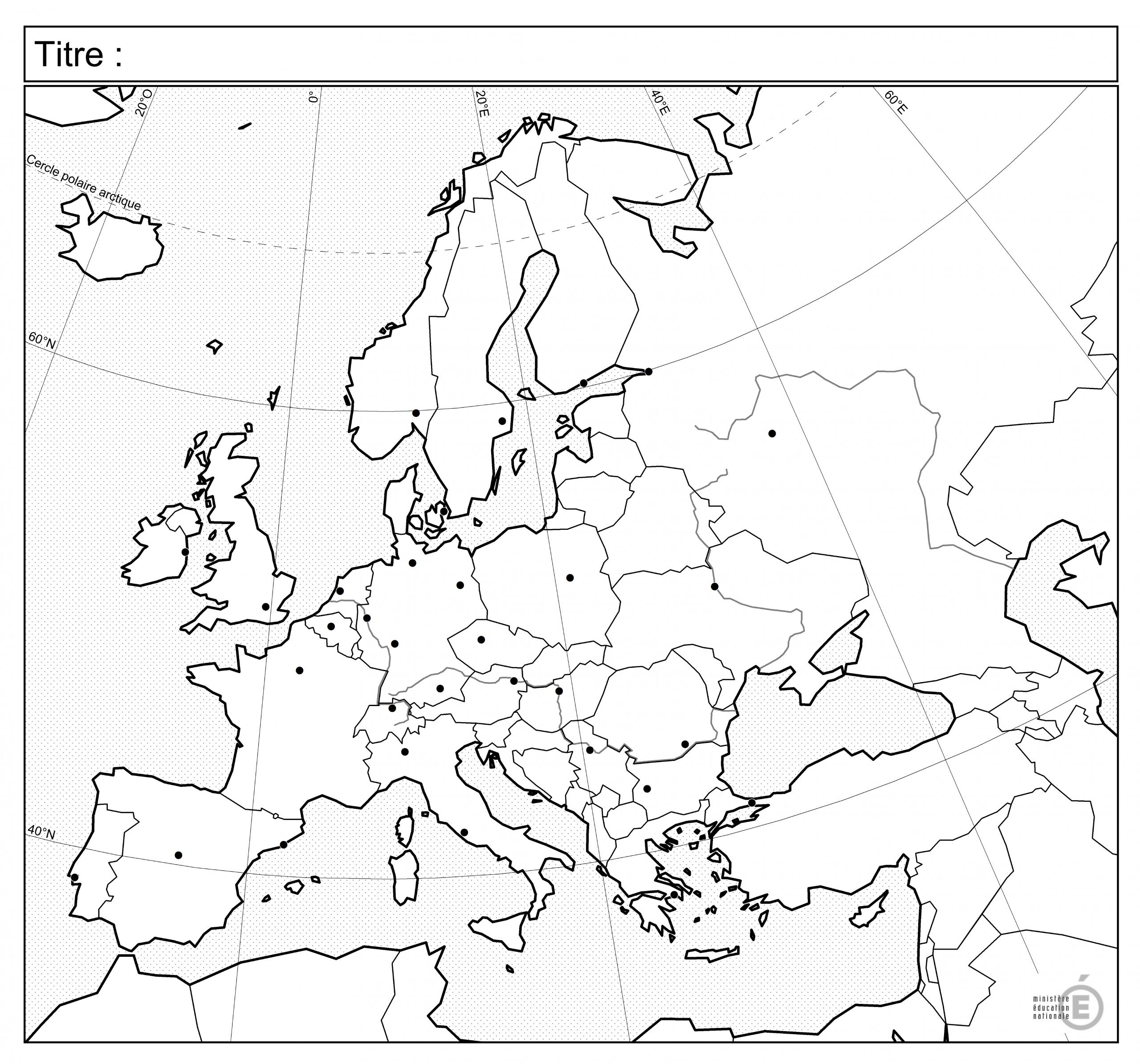 Fonds De Carte - Histoire-Géographie - Éduscol destiné Carte Europe Vierge À Compléter En Ligne