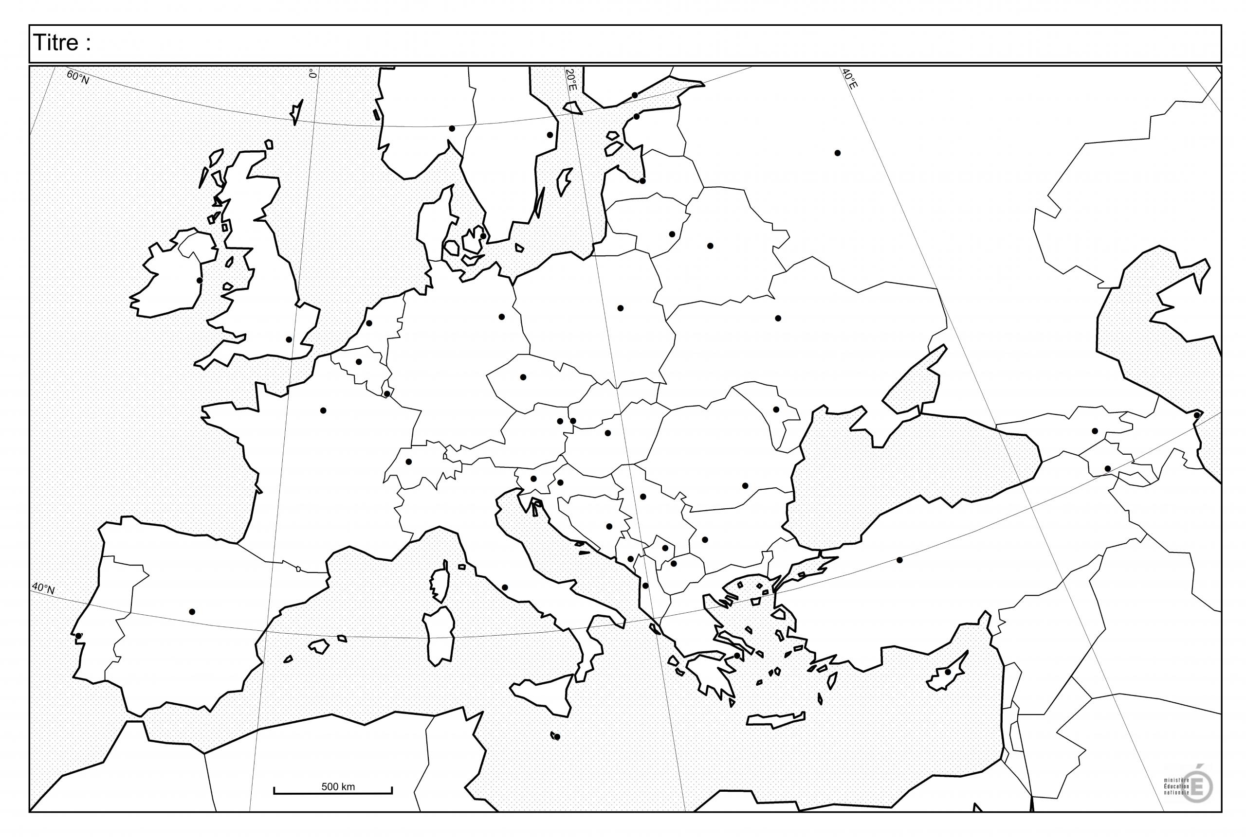 Fonds De Carte - Histoire-Géographie - Éduscol encequiconcerne Carte D Europe Avec Les Capitales