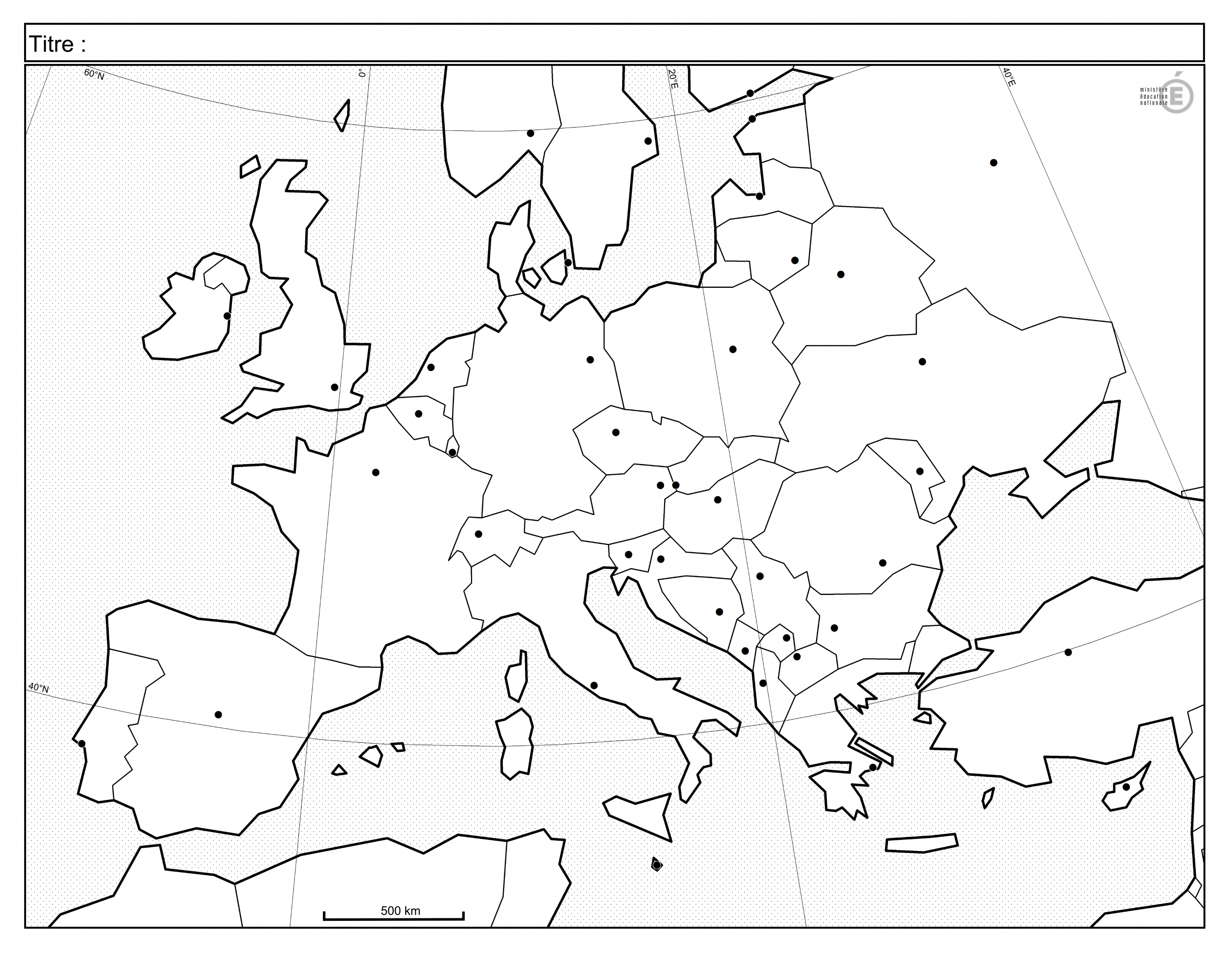 Fonds De Carte - Histoire-Géographie - Éduscol intérieur Carte Europe Vierge À Compléter En Ligne