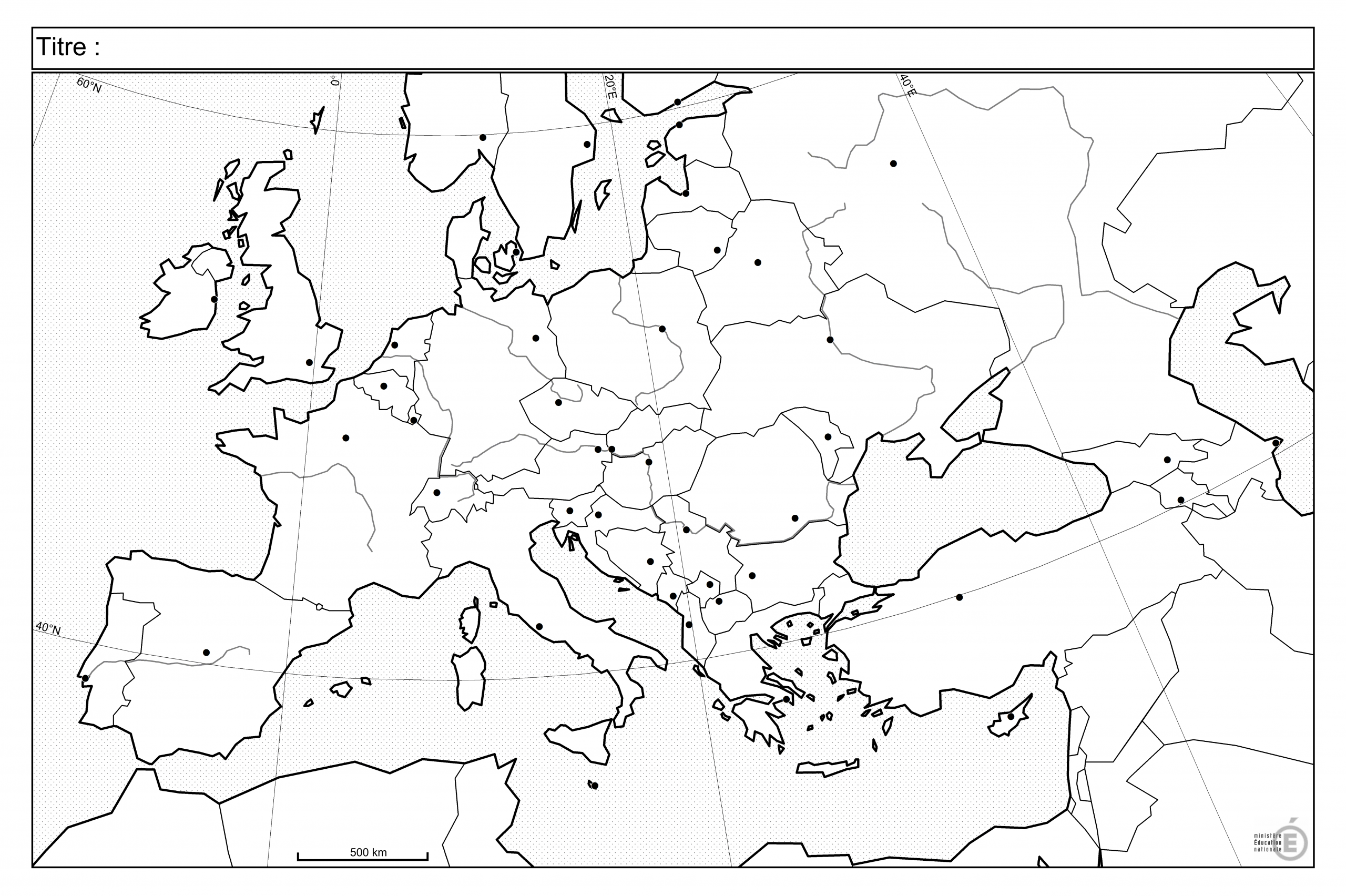 Fonds De Carte - Histoire-Géographie - Éduscol intérieur Carte France Vierge Villes