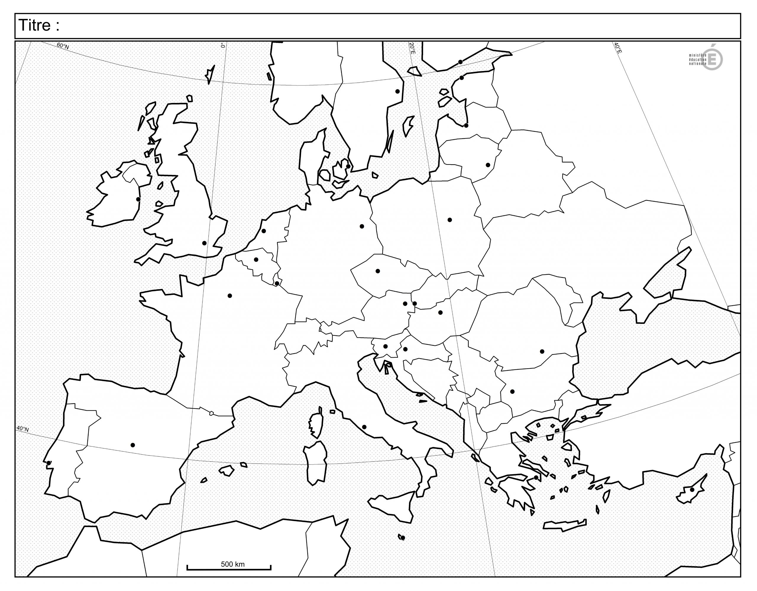 Fonds De Carte - Histoire-Géographie - Éduscol serapportantà Carte Europe Vierge À Compléter En Ligne