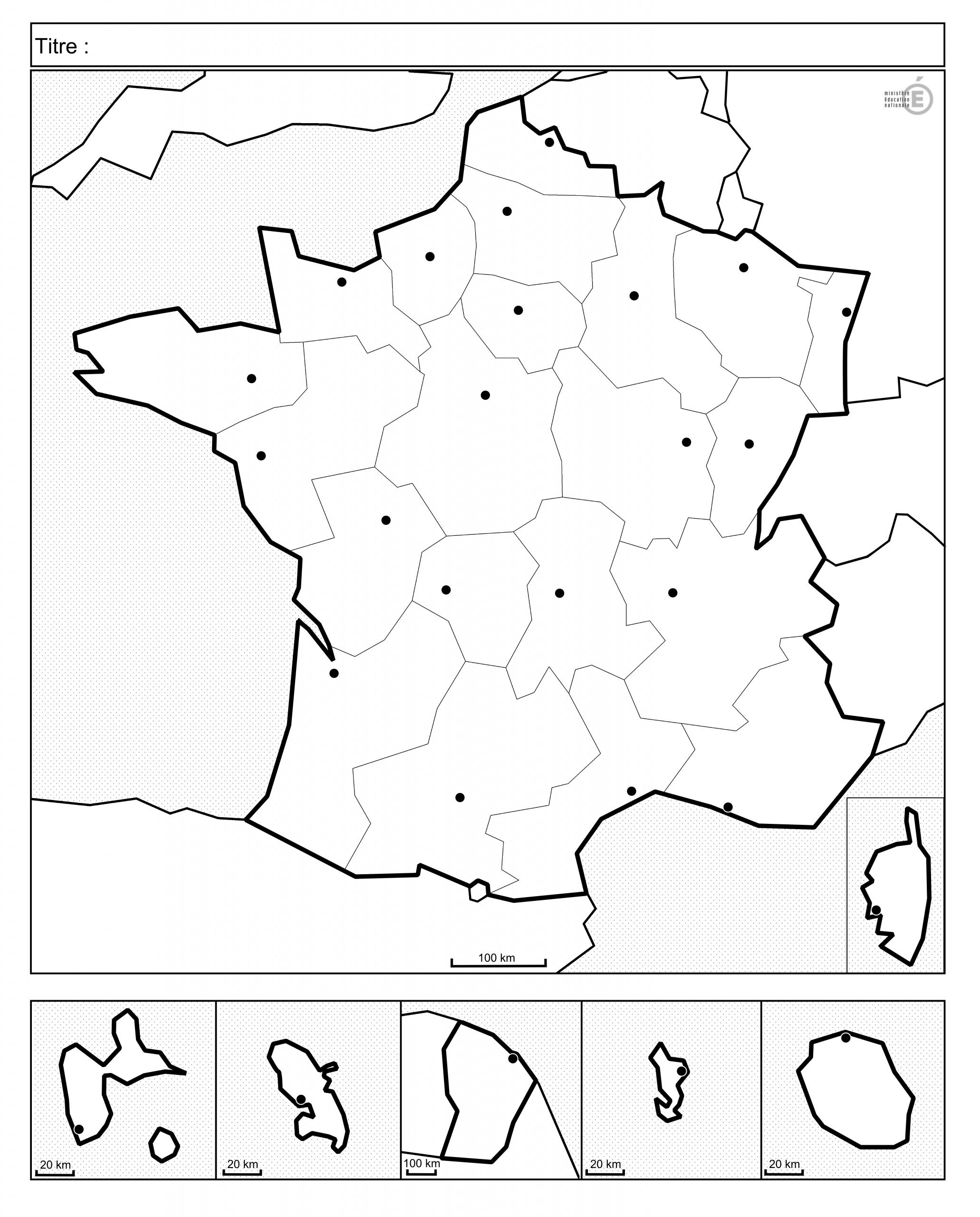 Fonds De Cartes De France Et Quiz avec Carte De La France Vierge
