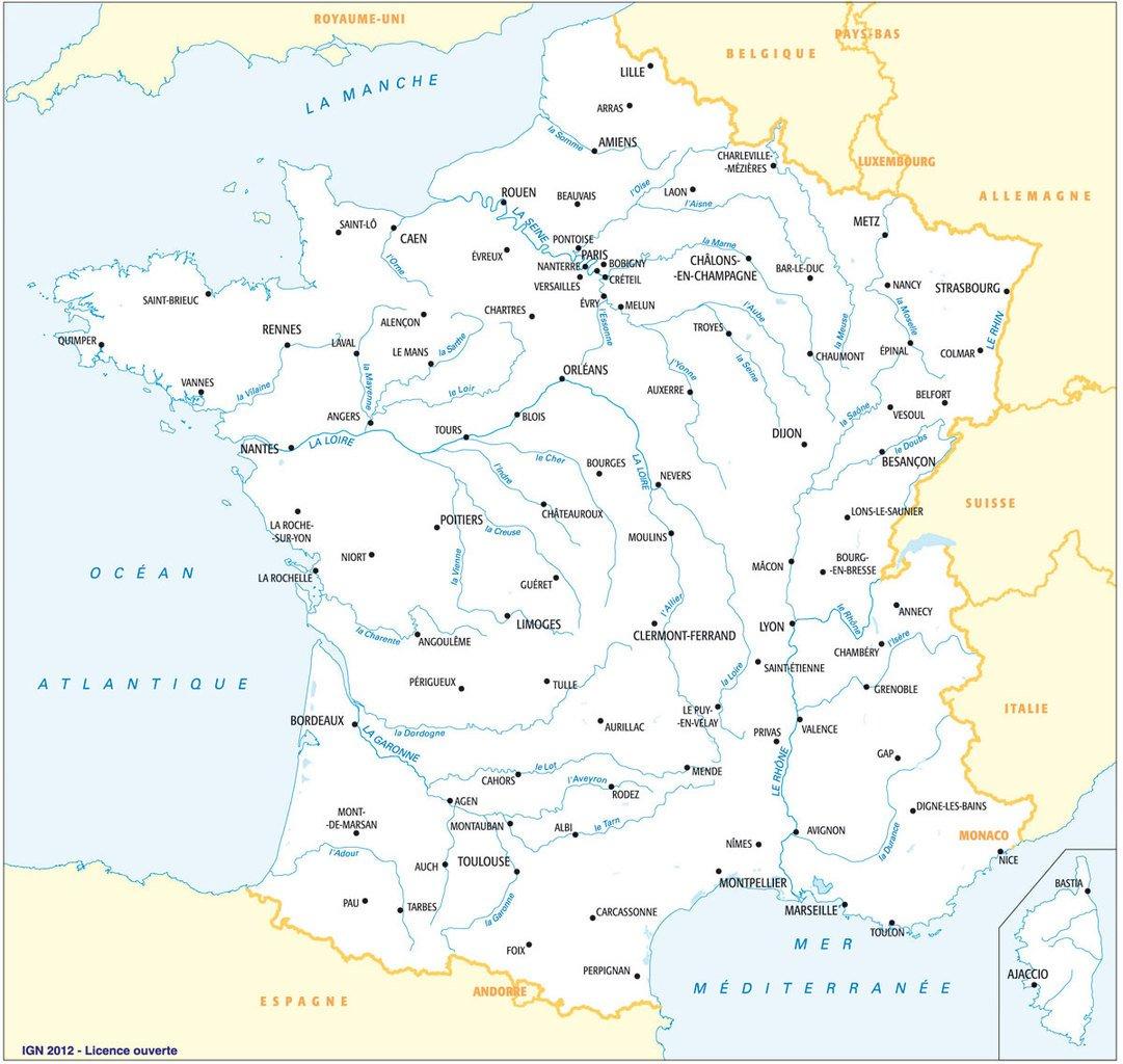 Fonds De Cartes De France, Ign | Webzine+ encequiconcerne Carte De France Vierge Nouvelles Régions