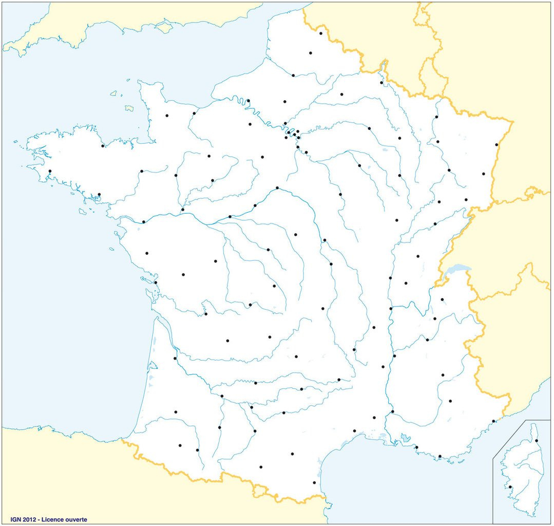 Fonds De Cartes De France, Ign   Webzine+ serapportantà Carte De France Région Vierge