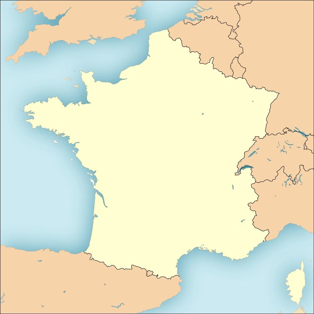 Fonds De Cartes De France Vierges encequiconcerne Carte De France Des Régions Vierge