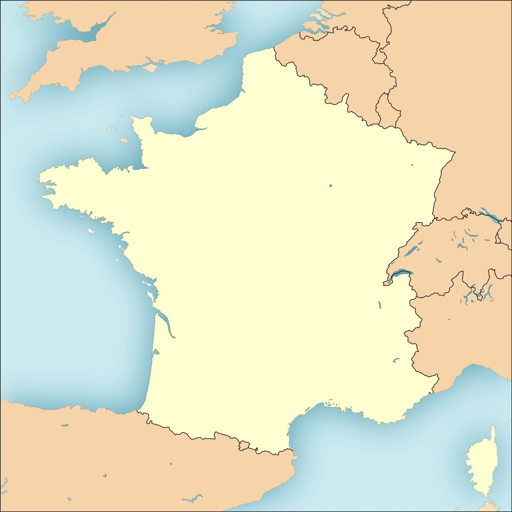 Fonds De Cartes De France Vierges tout Carte Vierge De La France