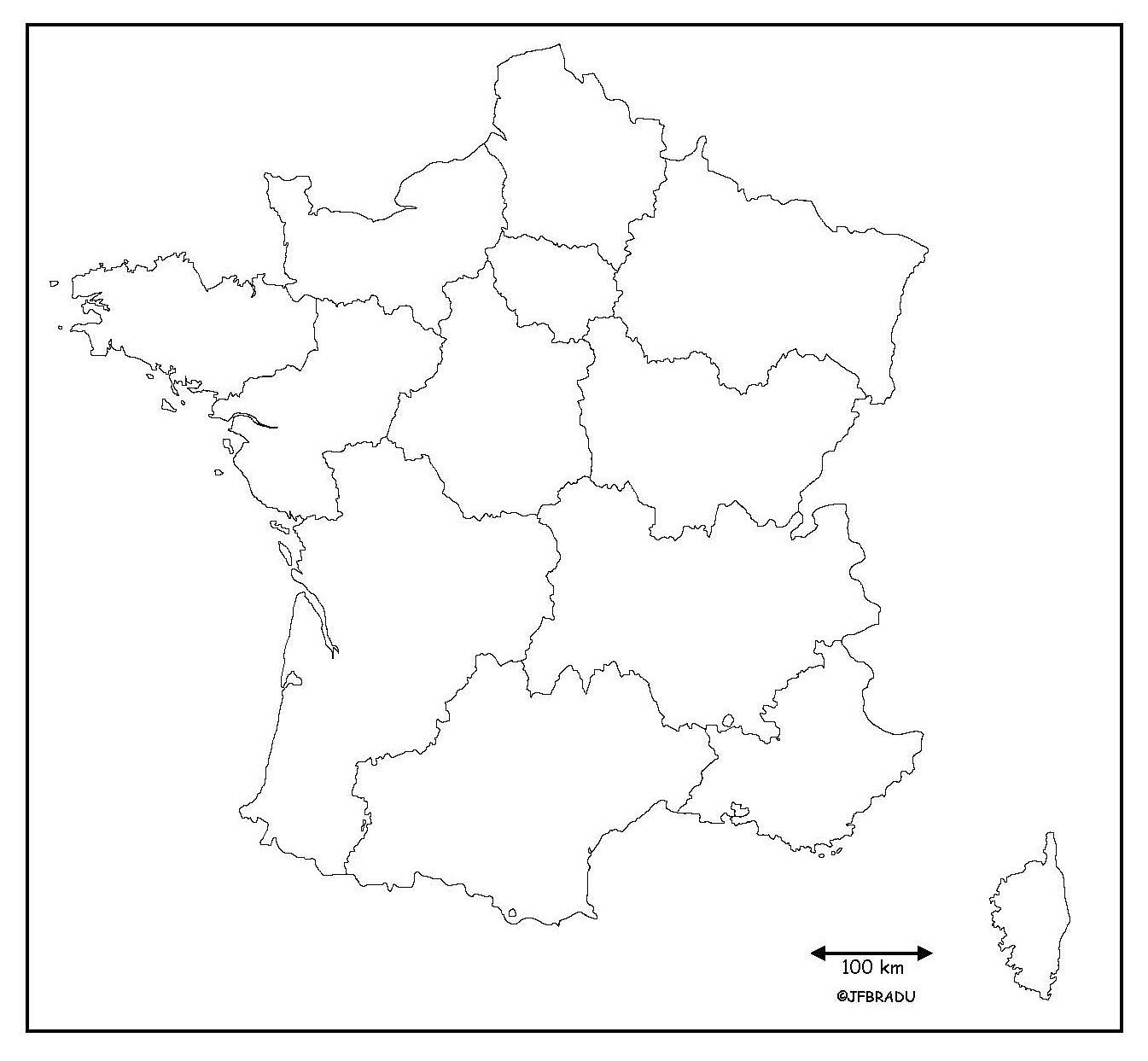 Fonds De Cartes France serapportantà Carte Vierge Des Régions De France
