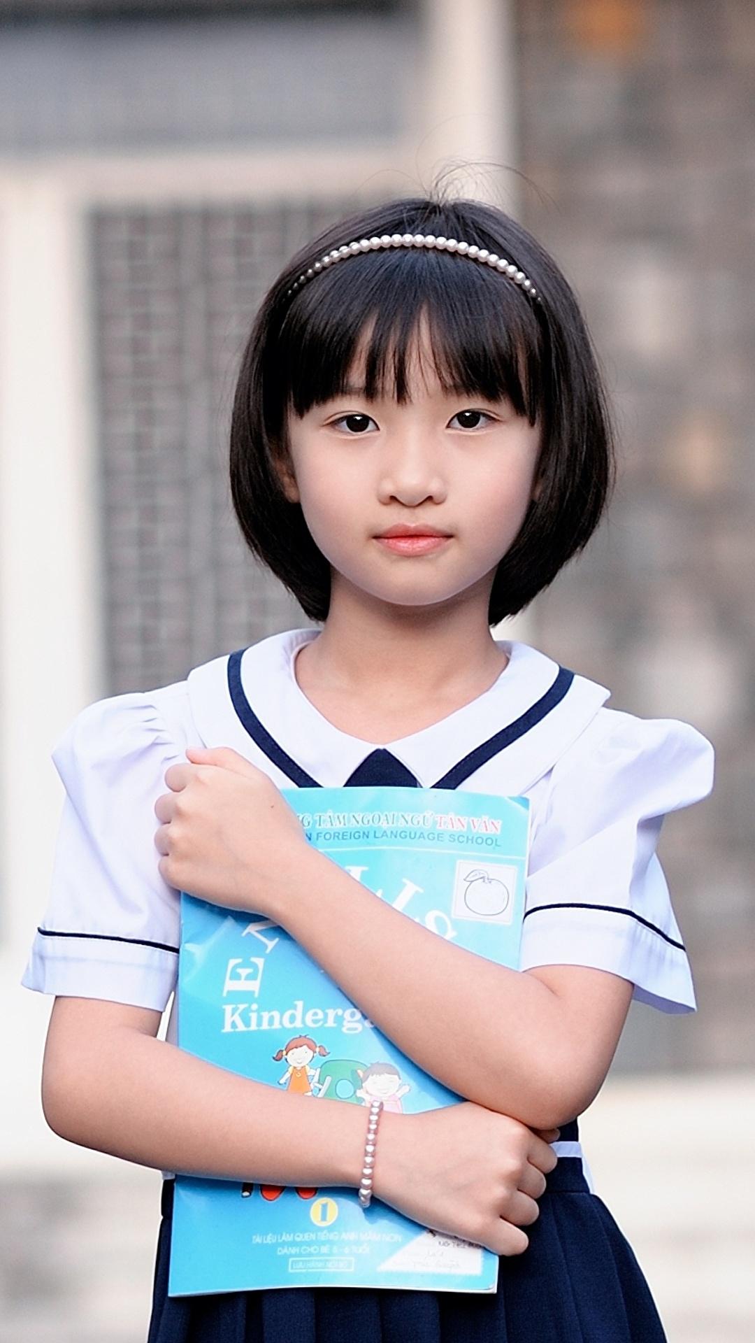 Fonds D'ecran 1080X1920 Asiatique Cheveux Noirs Fille Bokeh tout Tablette Enfant Fille