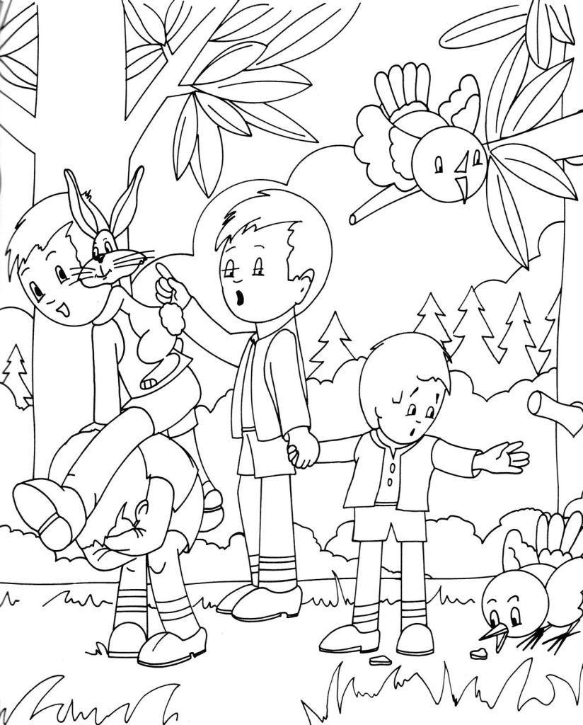 Forêt #12 (Nature) – Coloriages À Imprimer destiné Dessin De Foret