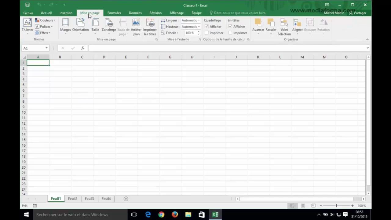 Formation Vidéo : Apprendre Excel 2016 - Smartnskilled à Quadrillage À Imprimer