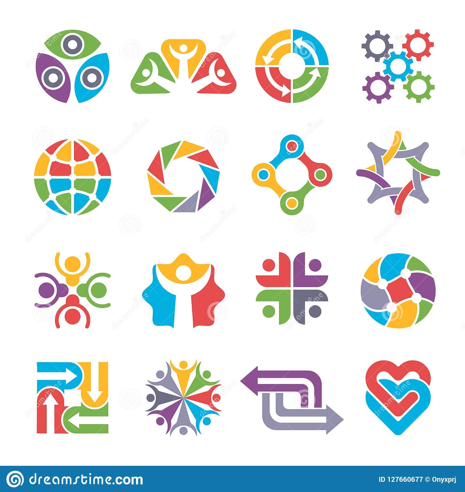 Formes De Logo De Cercle Groupe Communautaire Réutilisant intérieur Association De Formes